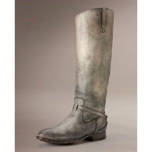 Frye Natural 30mm Stone Washed Leather Boots